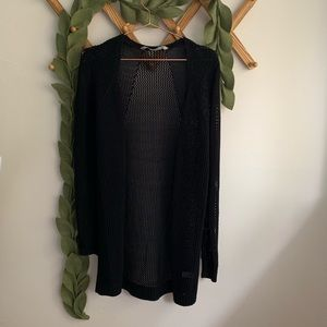 Athleta Black Open Knit Mesh Wrap